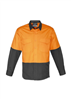 Syzmik Mens Hi Vis Spliced Rugged Shirt Long Sleeve