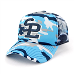 Camouflage Trucker Mesh Cap Polyester with Mesh Backing