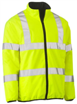 Bisley Hi Vis Reversible Puffer Jacket with Reflective Tape