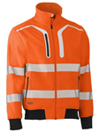 Bisley Hi Vis Soft Shell Bomber Jacket with Segmented Reflective Tape