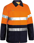 Bisley Cotton Drill Jacket with 2 Ring Pattern Reflective Tape