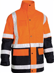 Bisley 5 in 1 Rain Jacket with H Pattern Reflective Tape