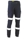 Bisley Flex  Move Stretch Cuffed Cargo Pants with BioMotion Reflective Tape