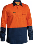Bisley Cotton Drill Shirt Closed Front Long Sleeve