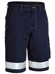 Bisley Cotton Drill Vented Light Weight Cargo Work Shorts with Reflective