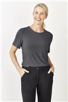 Biz Collection Ladies Easy Stretch Plain Shirt Short Sleeve