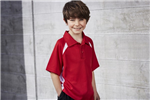 Biz Collection Kids Splice Polo Shirt 100 Bizcool Breathable Polyester Mesh Knit