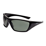 Bolle Hustler Gloss Black frame GreyGreen Polarised Lens