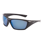 Bolle Hustler Gloss Black frame Blue Polarised Lens